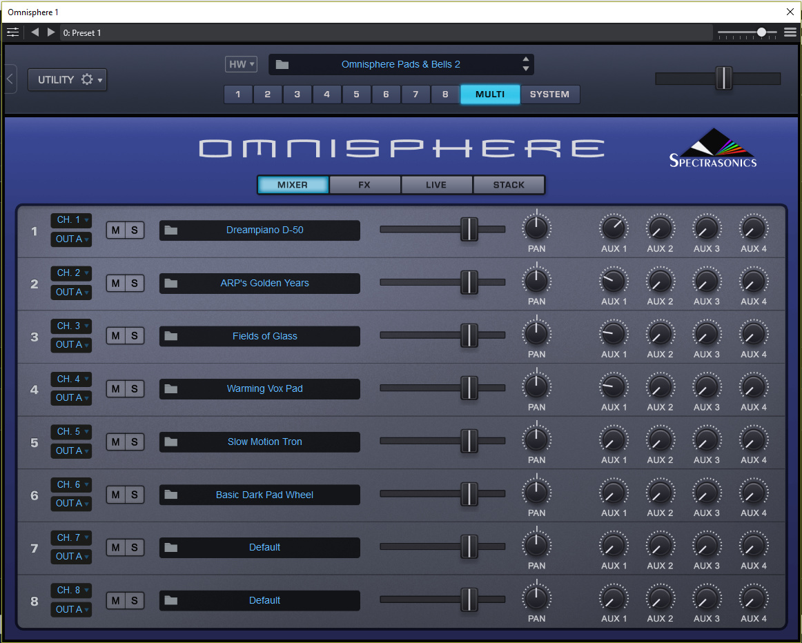 Using states to change Omnisphere patches in live mode - Cantabile